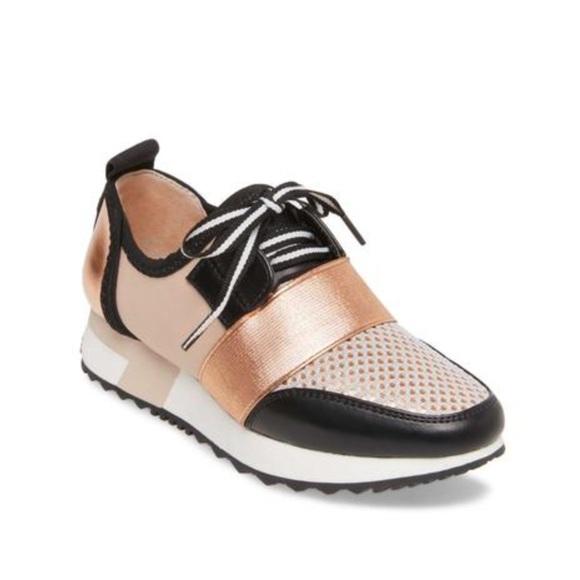 3cd24b87219 Steve Madden Women's Antics Sneakers Rose Gold 9.5 NWT